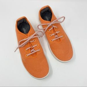 Allbirds Orange White Tree Runners Sneakers Sz 10